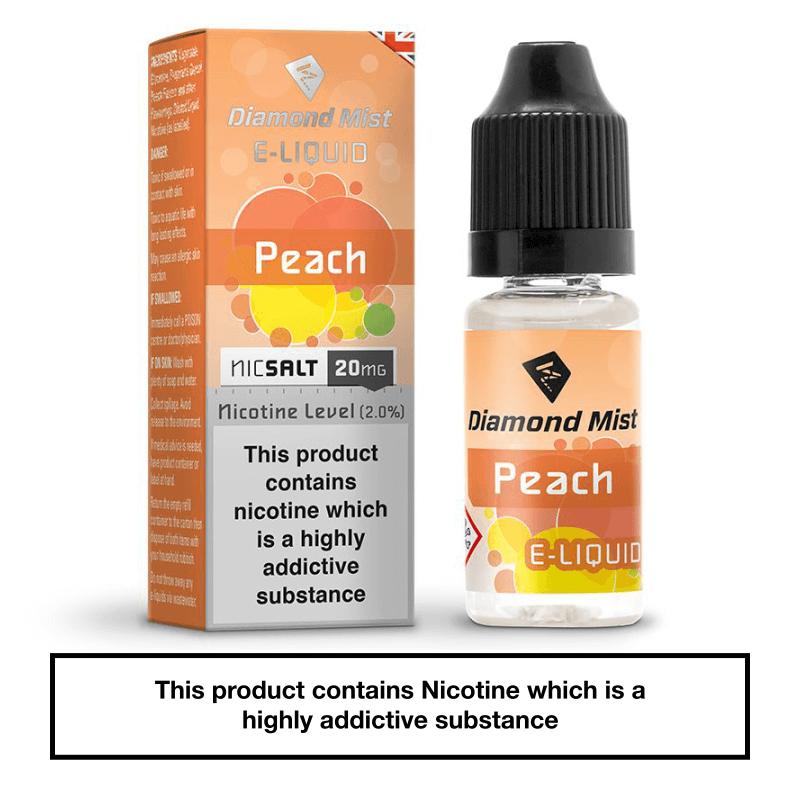 Diamond Mist Peach Nic Salt