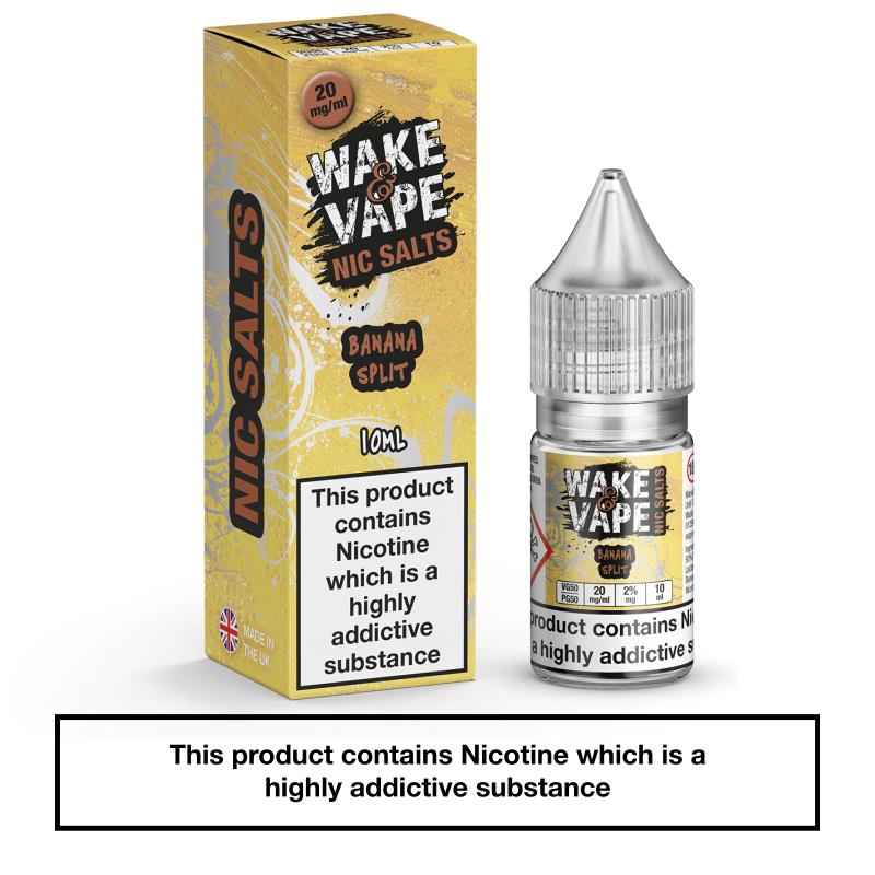 Wake & Vape Nic Salts – Banana Split 10ml