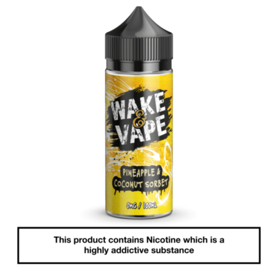 Wake & Vape Pineapple & Coconut Sorbet 100ml