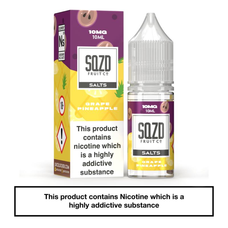 SQZD Grape Pineapple Nic Salt 10ml
