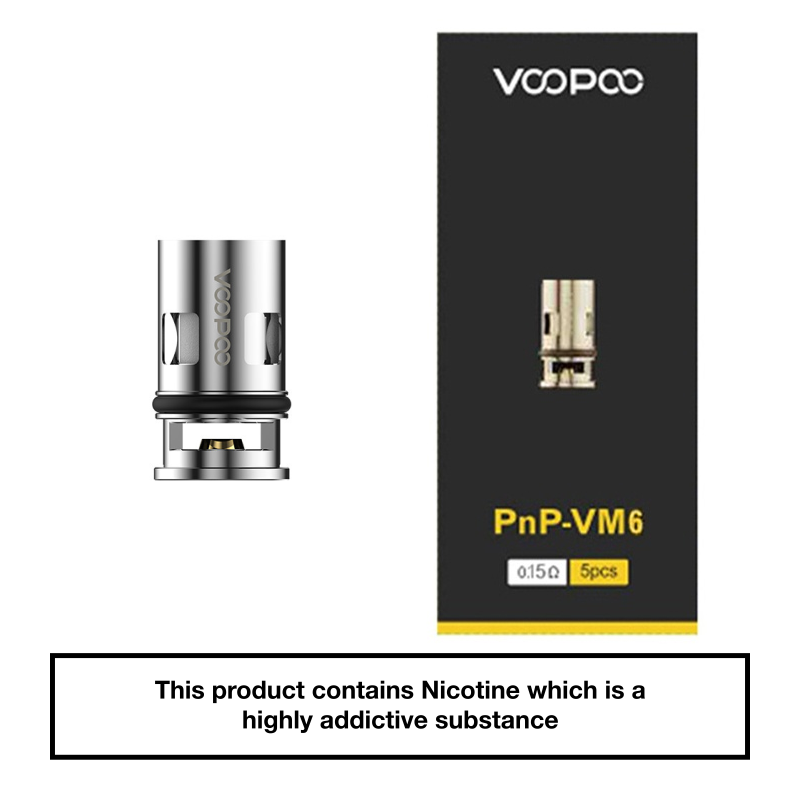 VooPoo Vinci PnP Replacement Coils 5 Pack - VM6